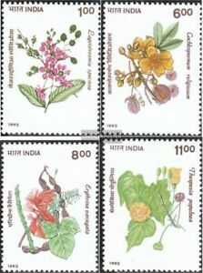 Unmounted Mint complete Issue Never Hinged 1993 Trees India 1398-1401