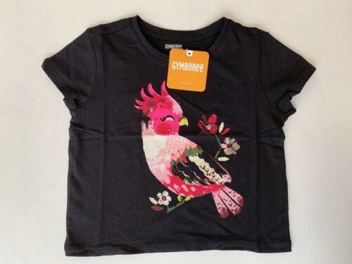 NEW Gymboree Toddler Girl Pink Bird Graphic T Shirt Black Size 4T