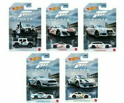 2020 Hot Wheels Ford Shelby Mustang GT350-1:64 Forza Motorsport 4//5 White