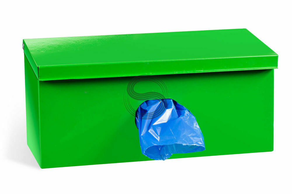 Single Roll Dog Waste Bag Dispenser + 600 Biodegradable Bags + Gelb Sign  91a