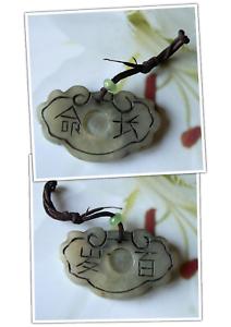 2,5x4,5 Cm 100% Garantie Wohlstand 100% Wahr Amulett Langes Leben Grüne China-jade Bewegliche Kugel