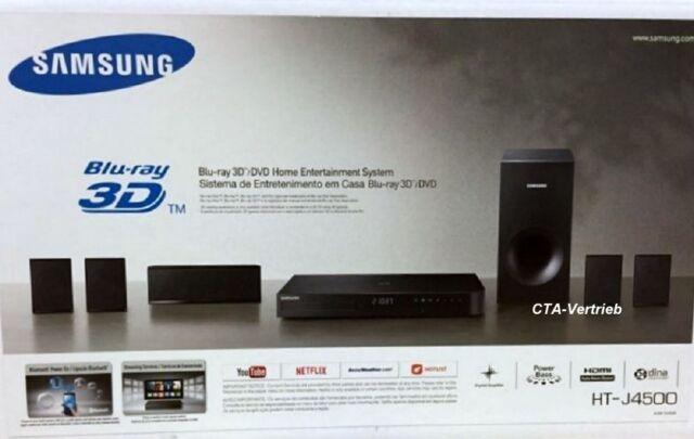 Samsung HT-J4500 5.1 3D Blu-ray Heimkinosystem 500W Bluetooth NEU