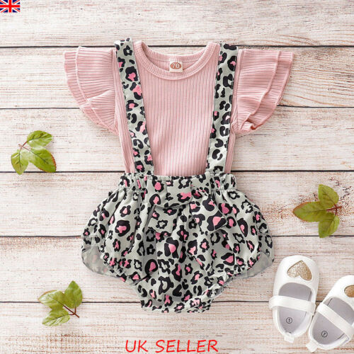 Newborn Baby Girl Ruffle Tops T Shirt Tutu Shorts Pants Outfits Clothes 2Pcs Set