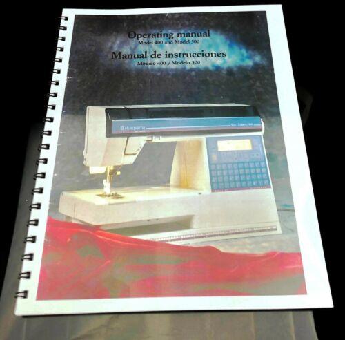 Husqvarna Viking Model 400 500 Computer Sewing Machine User Guide COLOR Manual