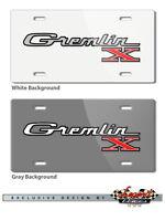 Amc Gremlin X 1970 1978 Vintage Emblem Logo 6x12 Aluminum License Plate 2 Colors