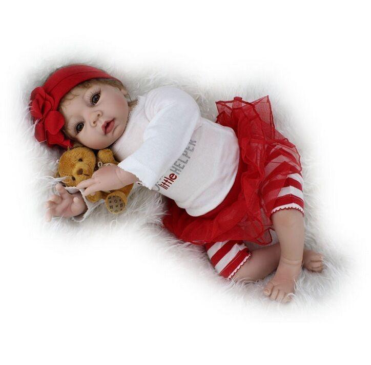 Fatto a mano 22 Pollici realistici Baby Neonato Bambola morbida in silicone Bambole Reborn Collection