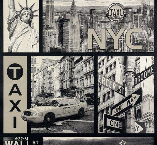 2,52 €//1qm Enfants Papier Peint New York Streets Gris Beige Brillant Boys /& Girls 30045-2