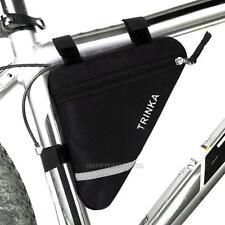 Bolso Bolsa Funda Mochila Bag Triángulo de Cuadro de la Bicicleta Bici MTB negro