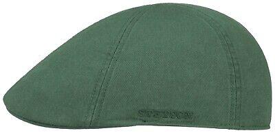 Flight Tracker Stetson Sun Guard ® Duck Ivy Berretto Piatto Cap Berretto Cappello Texas 42 Verde Cotton Nuovo-