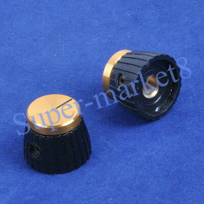 "10PCS Marshal Stylel Amp Control Knob W/ Gold Top 1/4"""