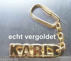 Begeistert Edler SchlÜsselanhÄnger Karl Echt Vergoldet Gold Name Keychain Keyring