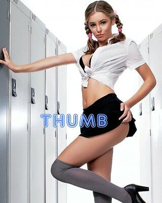 Keeley Hazell, 10x8 inch Photograph #002 in Schoolgirl Uniform