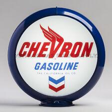 """Chevron 13.5"""" Gas Pump Globe w/ Dark Blue Plastic Body (G111)"""