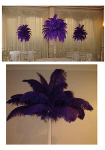 Free shipping 5-200 PCS high quality PURPLE OSTRICH feathers 6-24 inches/15-60cm