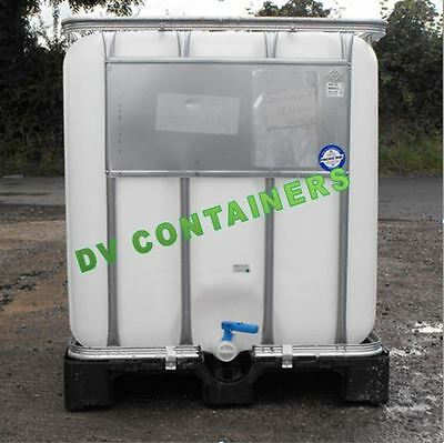1000LT PLASTIC IBC STORAGE CONTAINER,WATER BUTT,RAIN,FOOD USE GUARANTEED!