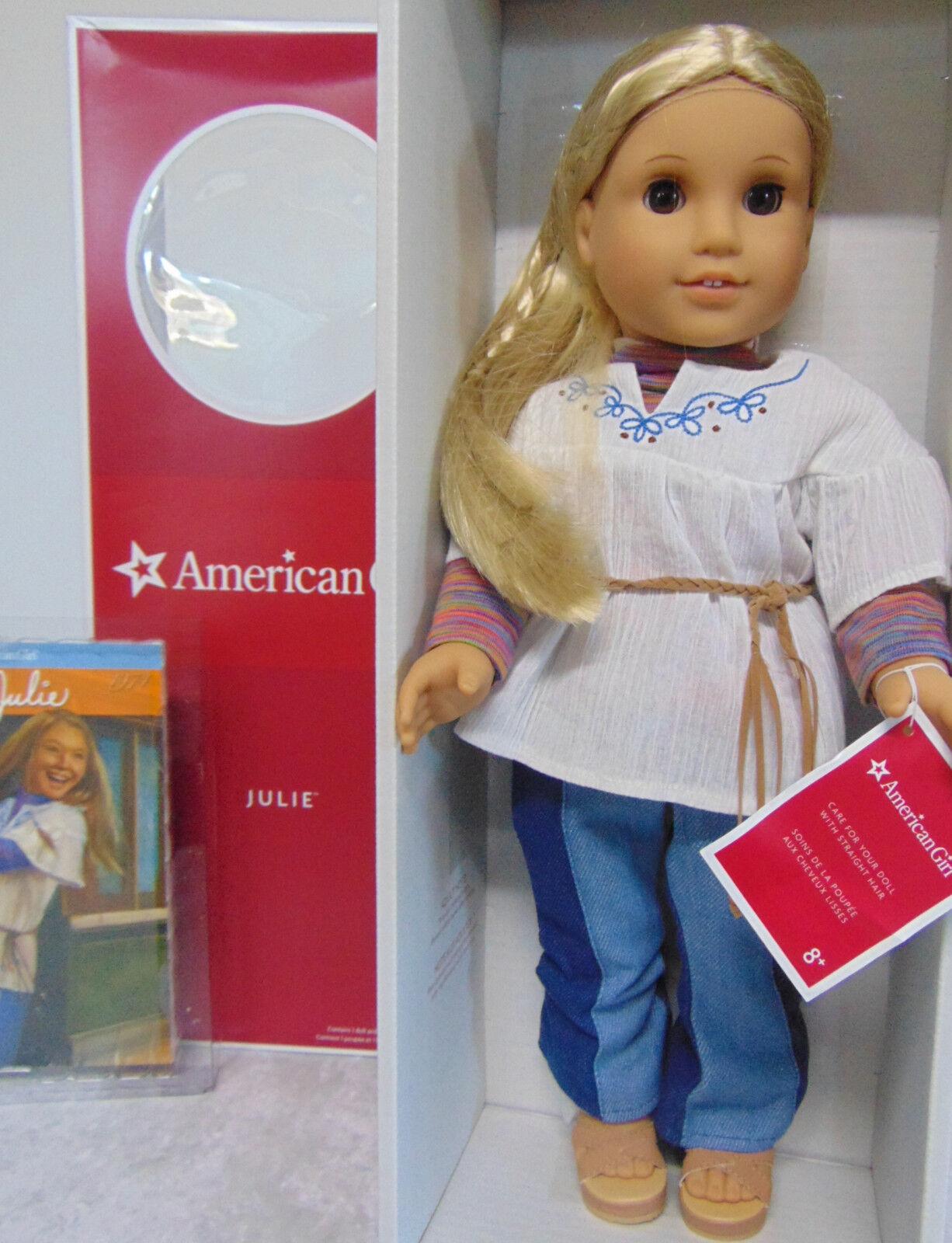 Nuovo American Girl Bambola 18   Julie in Fare Conoscenza Completo