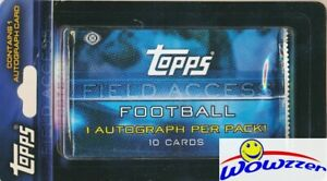 10-2015-Topps-Field-Access-Football-Factory-Sealed-HOBBY-Hanger-10-AUTOGRAPHS