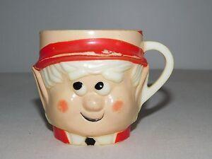 "VINTAGE KITCHEN 3"" HIGH 1972 KEEBLER COMPANY ELF PLASTIC CUP"