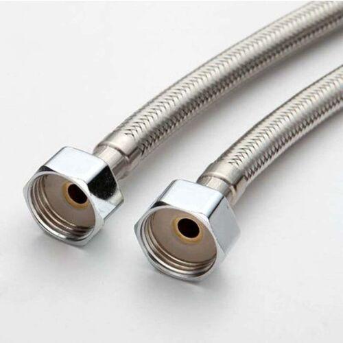 2x 60cm Geflochtenen Edelstahl Wasserhahn Wasserhahn Schlauchverbinder Flex D4L3