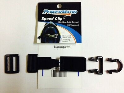 NEW PowerMadd Speed Clip Helmet Chin Strap Quick Connect FREE SHIP