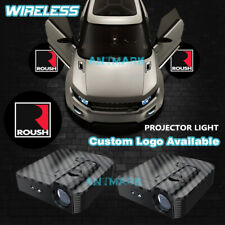 2x Roush Logo Car Door Welcome Laser Projector Ghost Shadow Light For Ford Roush Fits Focus