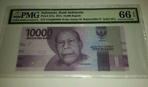 Indonesia-2016-10000Rp-Solid-GAQ-888888-PMG66EPQ-GEM-UNC