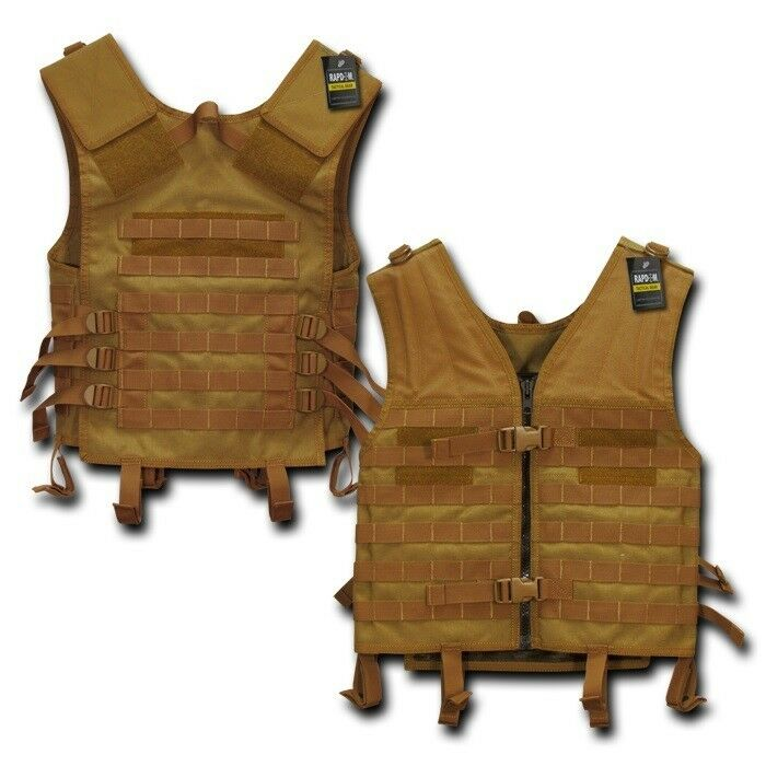 Coyote Molle Modular Assault Military Tactical Predective SWAT Police Vest Gear