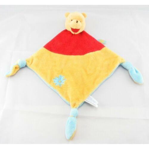 Ours Plat Se Doudou plat noeuds Winnie l/'ourson jaune rouge bleu Disney Baby