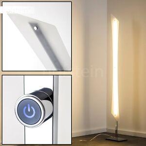 lampadaire led design clairage de salon lampe sur pied chrom e variateur 129211 ebay. Black Bedroom Furniture Sets. Home Design Ideas