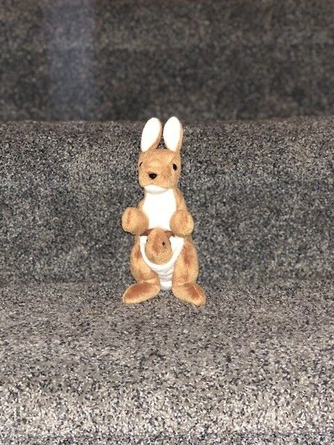 Pouch Ty Beanie Baby 1996 1996 1996  Kangaroo(pe pellets, no tag, good condition) e2589d