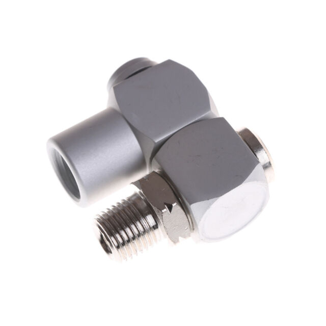 360Swivel Air Line Connector 1//4″BSP Pneumatic Fitting Screw Joint Adjustable NI
