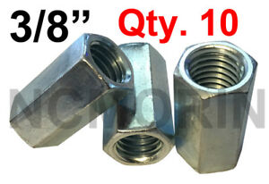Hex Coupling Nut Hex Rod Coupling Nut with Zinc Plate Hex Coupling Nuts 1//2-13 x 1-3//4 Threaded Rod Connector Coupling Nuts 1//2-13 x 1-3//4 Long Coupling Nut 2