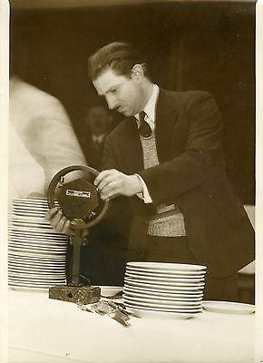 "Miel ""banquet Tardieu à Bullier 1932"" Photo Originale G. Devred / Agce Rol Volumen Grande"