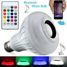 6W E27 LED Bluetooth Speaker Music Bulb RGB Change With Remote A2DP 110V/220V
