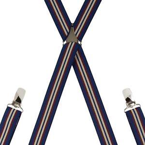 d7b27cad4 Children s Navy Stripe Trouser Braces Elastic Suspenders Handmade in ...