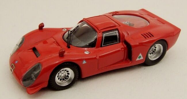 MODEL BEST BEST BEST BES9114 -  ALFA ROMEO 33.2  red  - 1 43 dc1