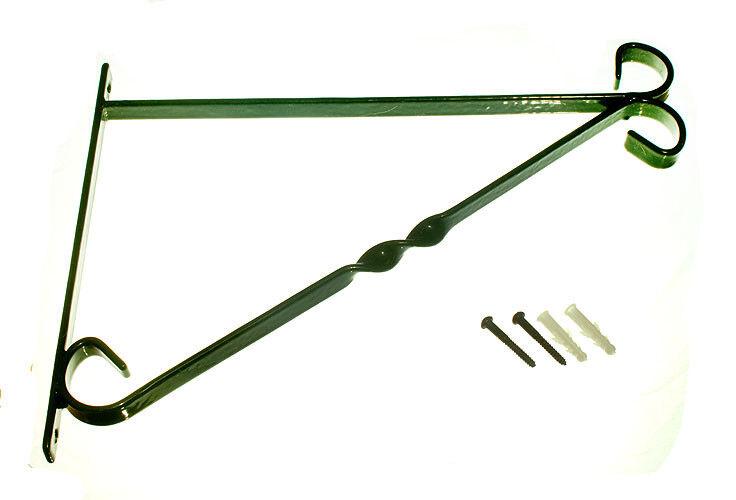 Cesta Colgante Soporte 14 in (approx. 35.56 cm) 350 mm de acero revestido de plástico verde, con Tornillos Pc 24