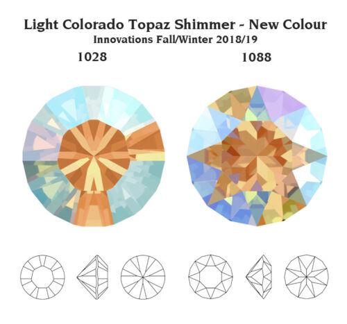 Plusieurs Couleurs Nouveau Authentique Swarovski 1028 /& 1088 griffes déjouée RONDE pierres