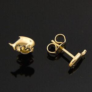 goldene-Ohrstecker-333er-Gold-8-Karat-Gelbgold-Delfin-Delphin-neu
