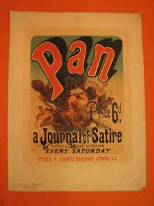 J-CHERET-Lithographie-Journal-PAN-Maitres-de-l-039-Affiche-Lithography-Litografia