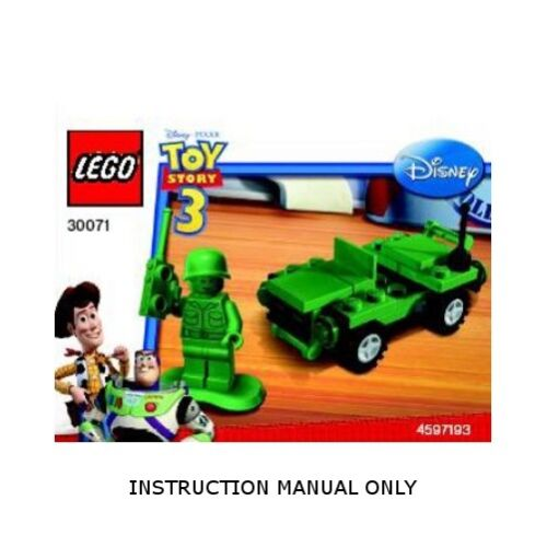 Instructions for LEGO 30071 Toy Story Army Jeep polybag MANUAL ONLY