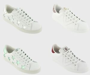New Victoria Women S Leather Glitter Lace Up Tennis Shoes Casual