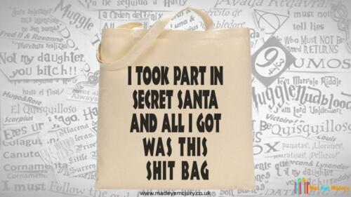 Took Part In Secret Santa Tote Bag Christmas Office Party Funny Novelty Gift