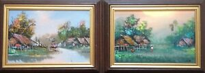 Oil-Painting-Pendant-landscape-in-Taiwan-Contemporary-Far-East-Chinese