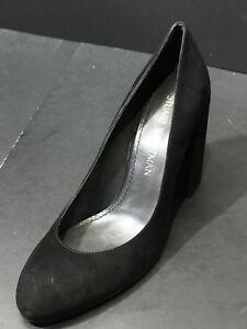 7bc492b376 Stuart Weitzman Women's Moda High Block Heel Black Pumps Size US 7.5 ...