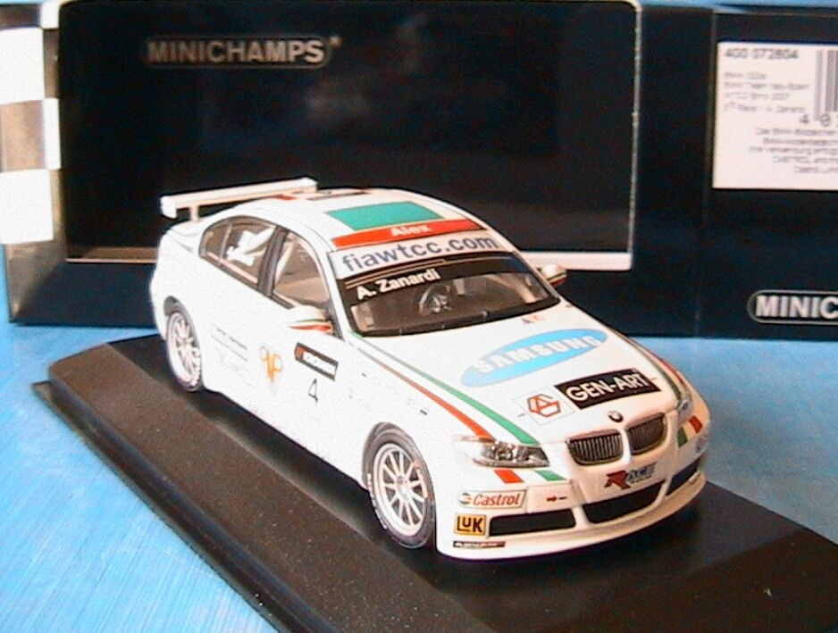 BMW 320SI  4 TEAM ITALY SPAIN WTCC BRNO 2007 3RD RACE ZANARDI MINICHAMPS 1 43