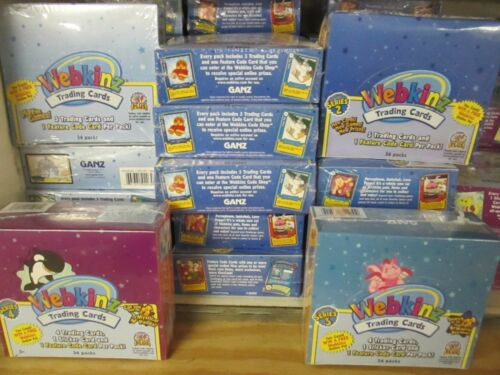10BOXES WEBKINZ 1 and 2TRADING CARD CASE SEALED BOXES Assorted Series Lot