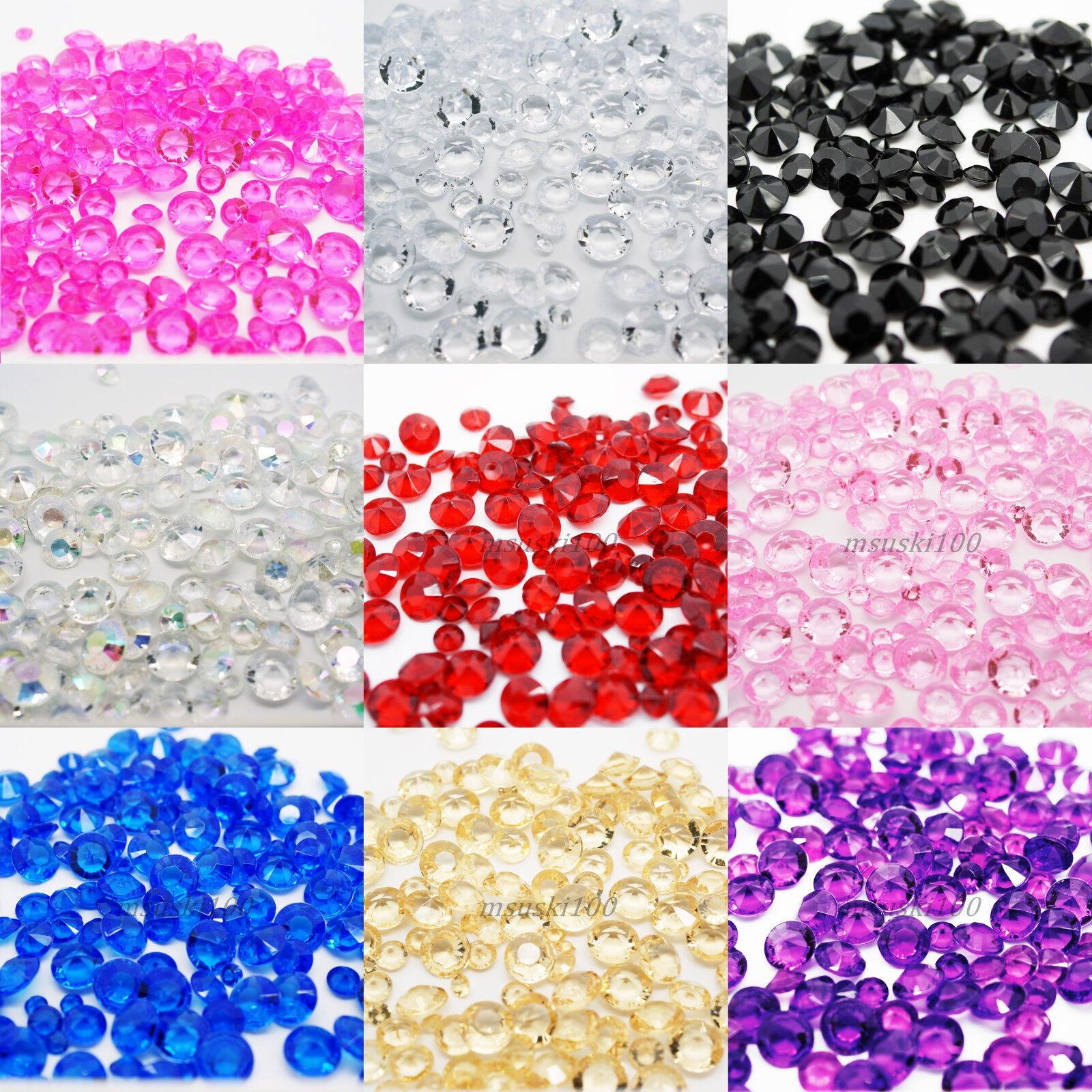 500 Confetti Diamond Shape 6.5mm 1ct Tabletop Crystal Gems Acrylic Bead Party