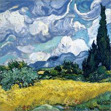 """WANDKINGS Leinwandbild Van Gogh /""""Weizenfeld mit Zypressen/"""""""