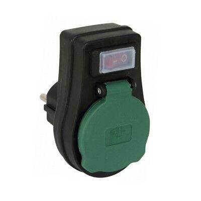 Außen Steckdosen-Schalter 230V 3680W 16A IP44 EIN//AUS Schalter Zwischenstecker